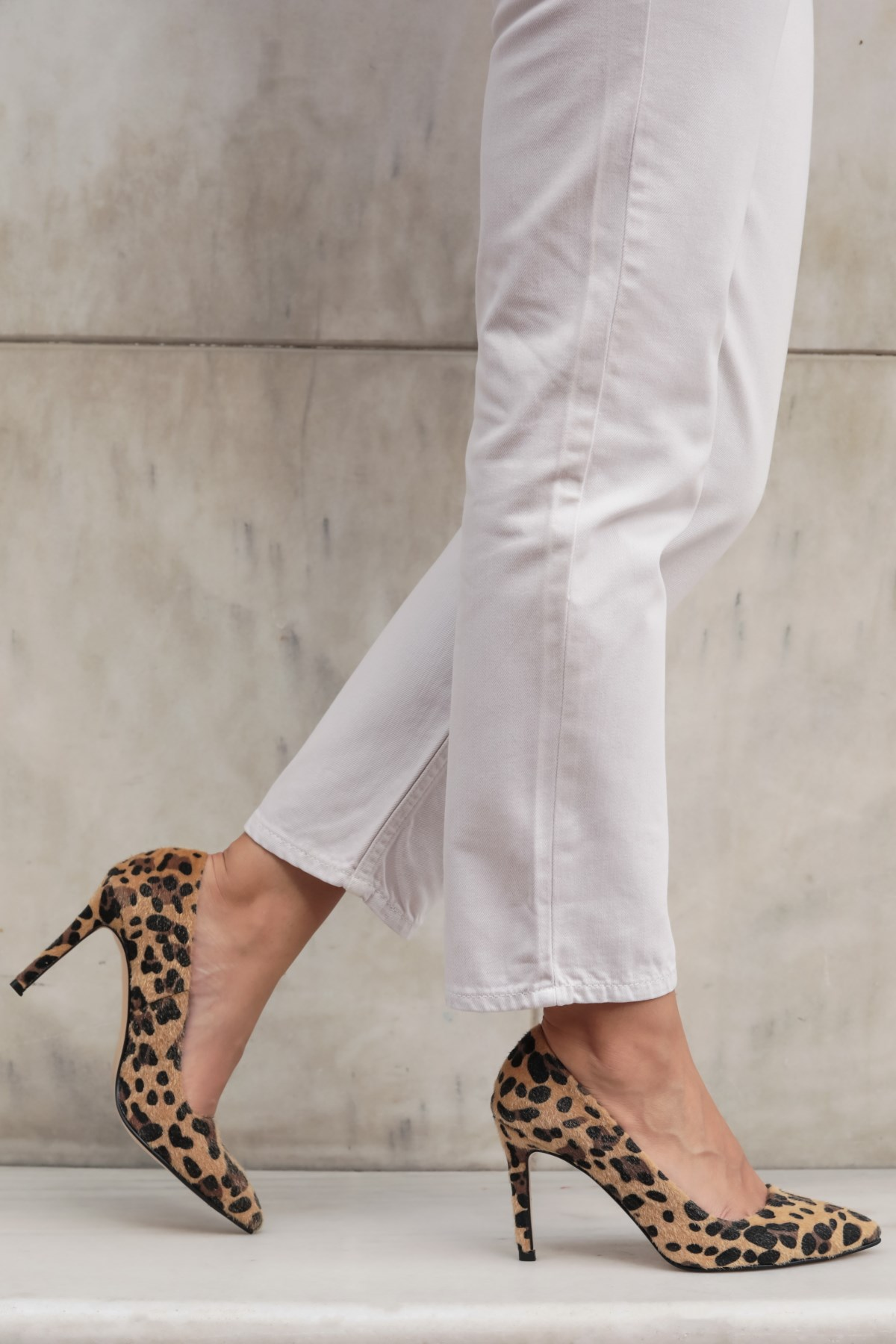 Basic Leopar Desen Stiletto